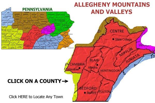 pennsylvania mountains map gallery