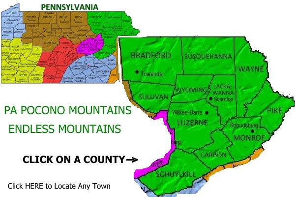 hotels shickshinny luzerne county pocono mountains region pennsylvania
